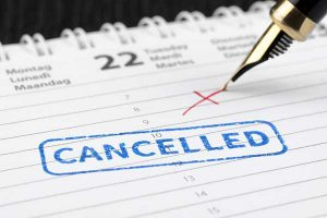 Cancelled appointment